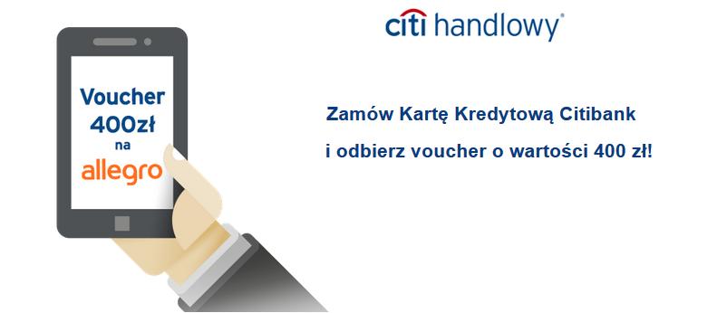 Bon 400zł do allegro.pl za płatności kartą kredytową Simplicity od Citibanku.