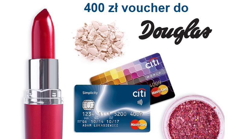 Bon 400zl do perfumerii Douglas za zalogowanie do bankowości internetowej! Bezpłatna karta kredytowa Simplicity od Citibanku