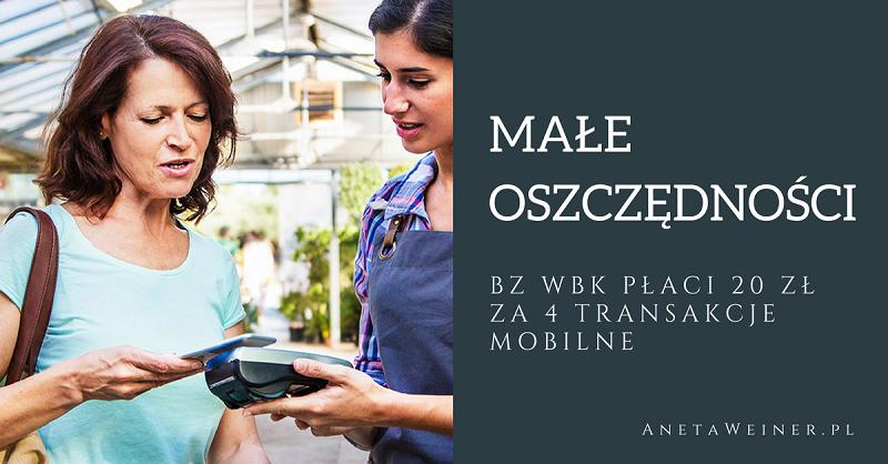 Małe oszczędności: 20zł za wykonanie 4 operacji dla obecnych klientów BZ WBK