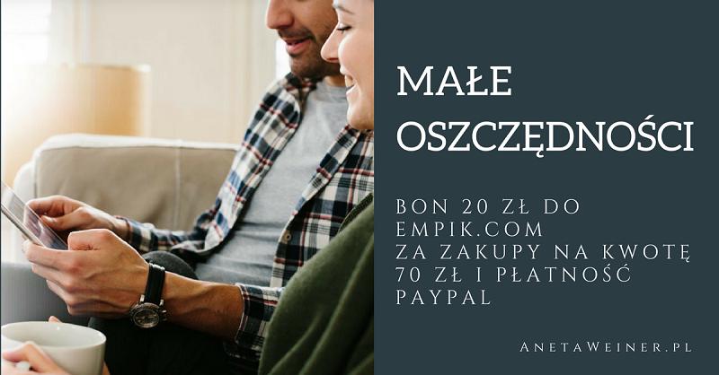 Bon 20 zł za zakupy na kwotę min. 70 zł w Empik.com