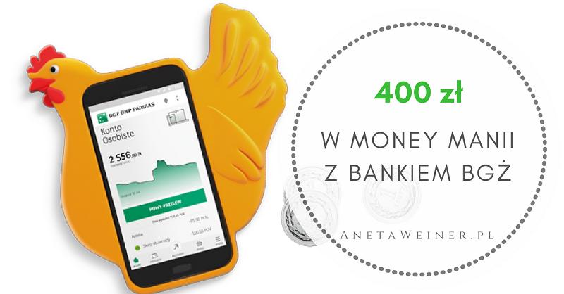 100 zł na start + 300 zł za płatności mobilne i przelewy od Banku BGŻ