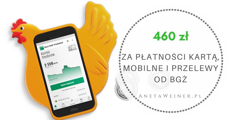 460 zł za płatności kartą, przelewy i płatności mobilne od Banku BGŻ