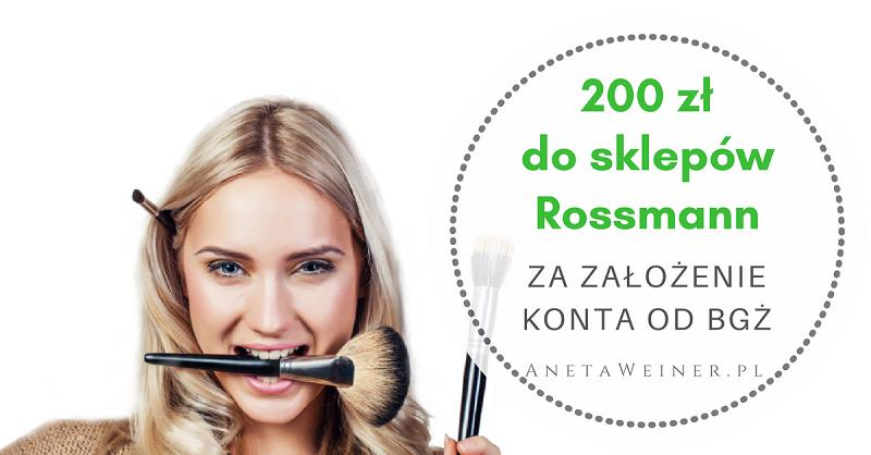 200 zł do sklepów Rossmann za założenie Konta Optymalnego w Banku BGŻ