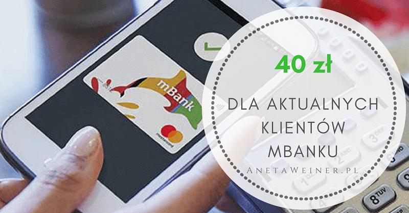 40 zł za płatności telefonem dla aktualnych klientów mBanku [Małe oszczędności]