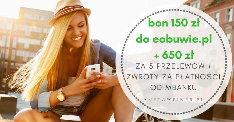 650 zł w gotówce+ bon 150 zł w nowej promocji mBanku i MoneyManii