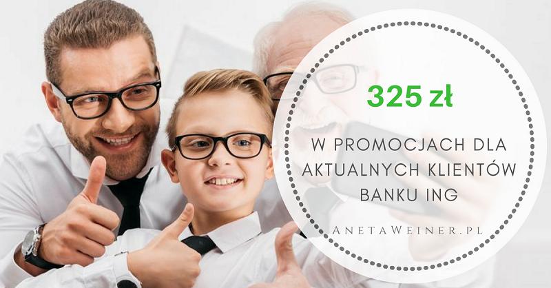 325 zł w promocjach dla aktualnych klientów Banku ING [Małe oszczędności]