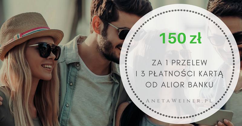 Bon 150 zł do Allegro.pl za 3 płatności kartą i 1 przelew. Nowa Money Mania z Alior Bankiem