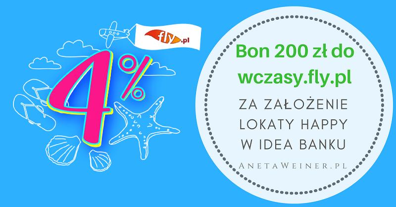Bon 200 zł za założenie najlepszej lokaty na rynku – Lokata Happy 4% od Idea Banku