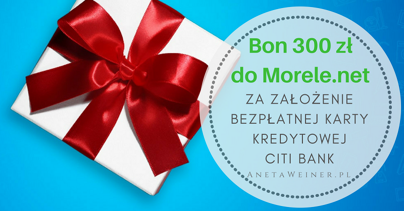 Bon 300 zł do Morele.net za 10 transakcji kartą kredytową Simplicity