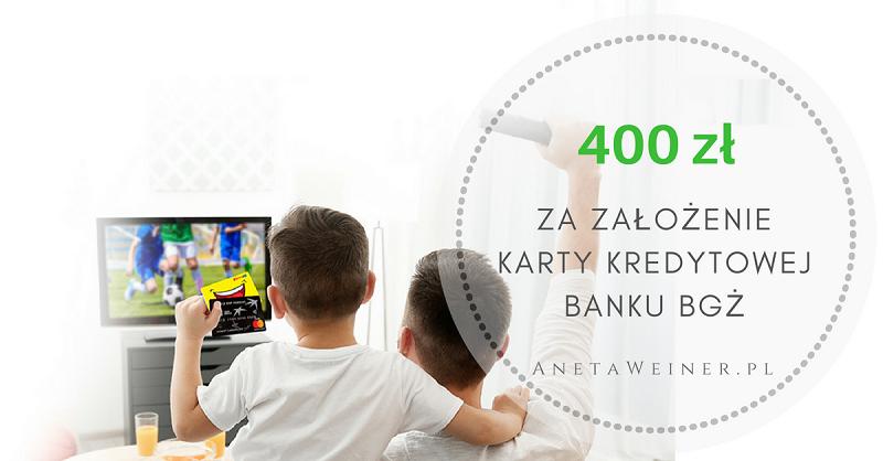 400 zł do Euro RTV AGD (lub Empik, Zalando, H&M, Smyk, Douglas, Answear) za założenie karty kredytowej banku BGŻ